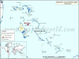 bahamas on a world map where is nassau location of nassau in bahamas map