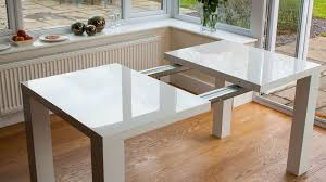 High Gloss Extending Dining Table White Extending Dining Tables Modern Home Design White Gloss