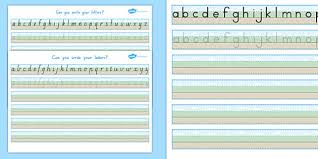 can you write your letters worksheet ground sky grass