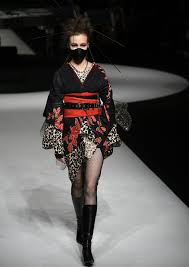 fashion week showed the new face of kimono
