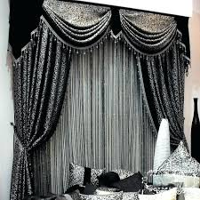 Grey And Silver Curtains Black And Silver Curtains Pencil Pleat Lined Curtains White Black