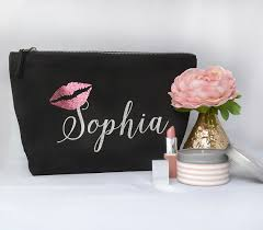 personalized names bridesmaid wedding gift make up bags