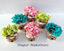 baby shower centerpieces for tables burlap cake flowers baby shower centerpiece