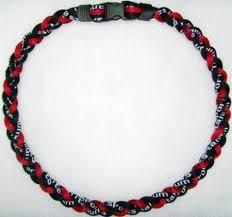 titanium necklace images 20 quot red black titanium sports tornado baseball jpg