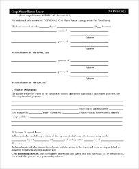 sample blank lease forms 8 free documents in pdf