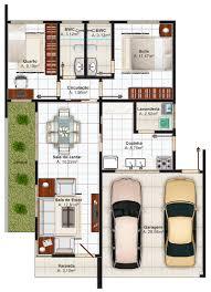 planta de casa em formato de l architecture pinterest