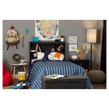 themed headboards south shore vito bookcase headboard with decals space rocket