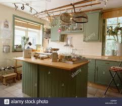 interiors traditional kitchens island units stock photos