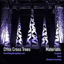 criss cross trees nlc stage design ideas pinterest stage