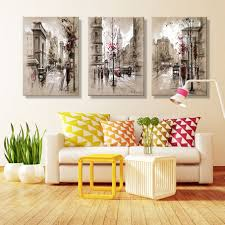living room wall street view graffiti canvas printed oil painting