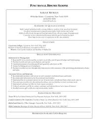 functional summary resume examples functional resume example the