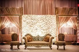indian wedding decorators in atlanta ga sweetheart stage in atlanta ga wedding by this modern