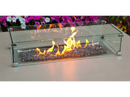 Firepit Glass Santa Barbara Square Pit Table From So Cal Collection