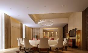 modern style dining room suspended ceiling 3d house