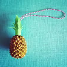 Paper Pineapple Decorations Pineapple Christmas Ornament Made From A Seed From A Tree Paint