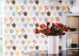 papier peint pour cuisine moderne papier peint pour cuisine une touche de joie dans l intérieur