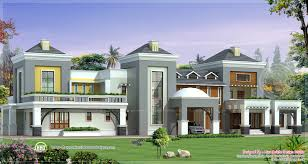 Floor Plan For House In India by Luxury House India On 1600x853 Luxury House Plan With Photo