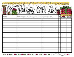 gift shopping list christmas and season ho ho ho free
