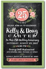 anniversary party invitations chalkboard 25th anniversary party invitations di 4603 harrison