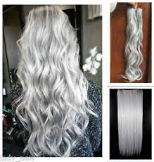 one clip in hair extensions curly wavy clip in hair extensions one hair grey