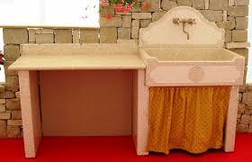 lavelli in graniglia per cucina lavandino per esterno giallo siena in graniglia manufatti