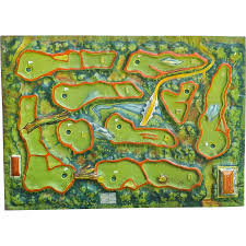Ruby Map Vintage Golf Course Map Gameboard From Vermiliondesigns On Ruby Lane