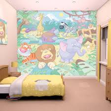 baby jungle safari wallpaper by walltastic great kidsbedrooms