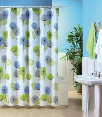 Polyester Shower Curtains Blue Polyester Shower Curtain Dandelion Shower Curtains