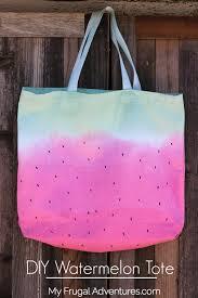 diy watermelon tote bag my frugal adventures
