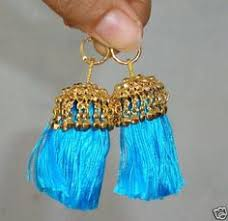 lotans punjabi folk earrings in bright and cheerful colours in