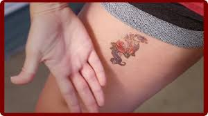 how to remove a temporary tattoo youtube