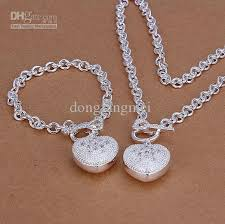 sterling silver necklace set images Top sales women 39 s silver jewelry set dsss 061 high grade 925 jpg