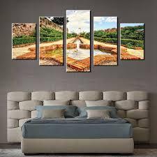 Wholesale Modern Home Decor Online Shop 5 Pieces Fountain Modern Home Decoration Wall Art