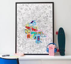 coloring poster party omy omy5pc pty concept store street art coloring poster party