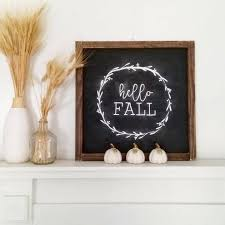 hello fall framed farmhouse decor farmhouse sign cottage