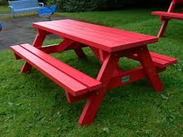 derwent recycled plastic junior picnic table bench