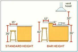 standard kitchen island height kitchen island bar height standard kitchen island pendant height