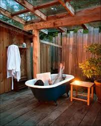 Adobe Bathrooms Surrounded By Nature Bathing Beauty Pinterest Outdoor Tub