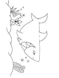 shark coloring pages posters