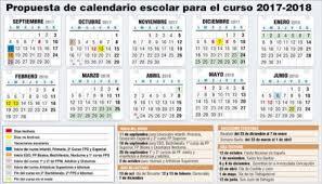 Calendario Diciembre 2018 El Próximo Curso Escolar 2017 2018 Comenzará El Lunes 11 De