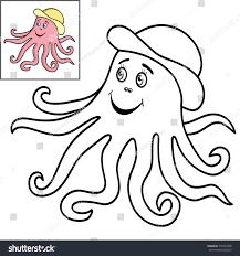 coloring book page kidscute cartoon fish stock vector 726741808