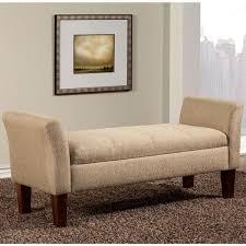 marseille mid century design upholstered storage bench ottoman