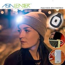 beanie with led lights lighting and flashing alarm modes 8 led usb rechargeable hands free