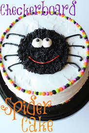 Spider Cakes For Halloween Munchkin Munchies Checkerboard Spider Cake