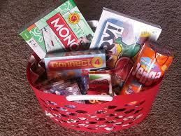 Game Night Gift Basket Susan North Memorial Auction Family Game Night Basket Themed