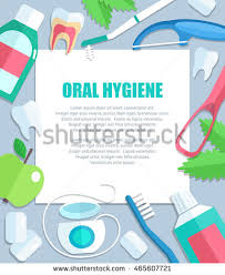 vector poster background template dental clinic stock vector