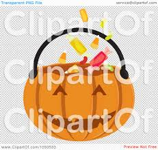 clipart halloween pumpkin basket 1 royalty free vector