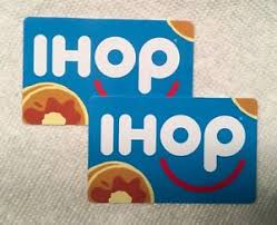 ihop gift cards 2 25 ihop gift cards total value 50 ebay