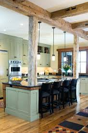 kitchen islands with posts kitchen island with post alund co