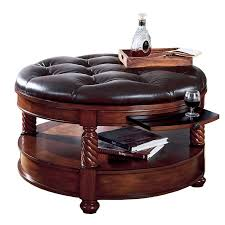 Leather Ottoman Round by Best 25 Leather Ottoman Coffee Table Ideas On Pinterest Leather